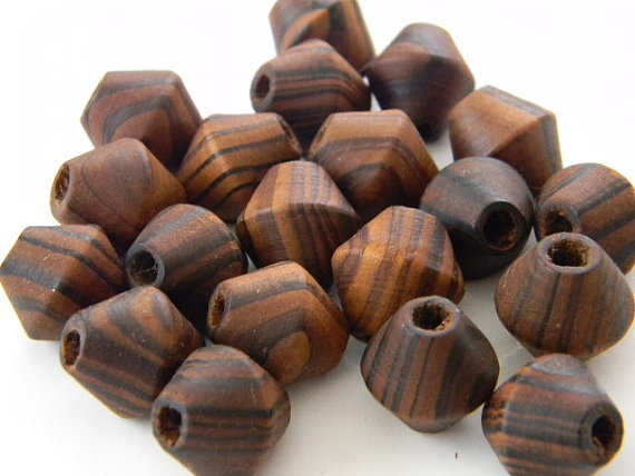 30 Pieces  15 x 15  mm  Bamboo Beads  Wooden Beads by ButtonStand, $3.75