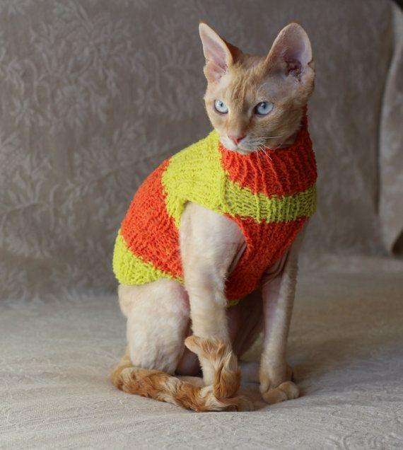 Handmade Cat Small Dog Jumper Sweater by TrendyKitty