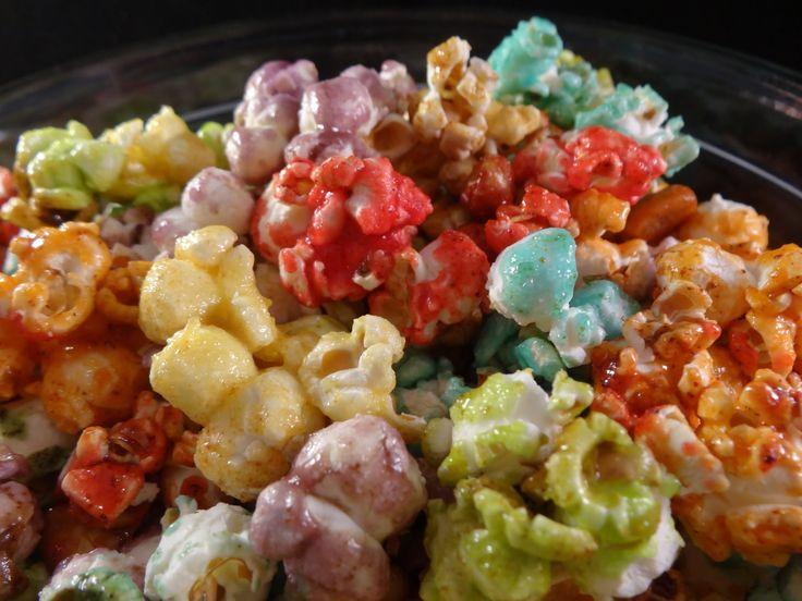 Rainbow Popcorn (fruit flavoured candied popcorn) - with yoyomax12, via YouTube.