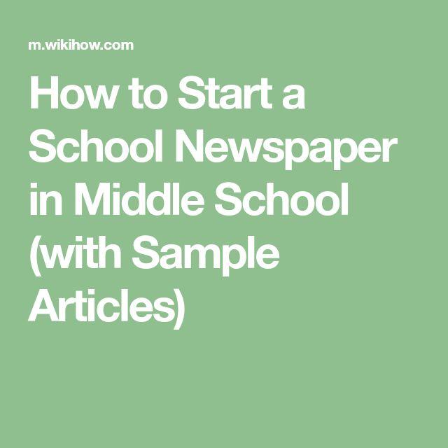 The  Best School Newspaper Ideas On   Newspaper