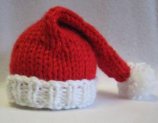Sea Trail Grandmas: Preemie and Newborn Santa Hat Knit Pattern. Christmas