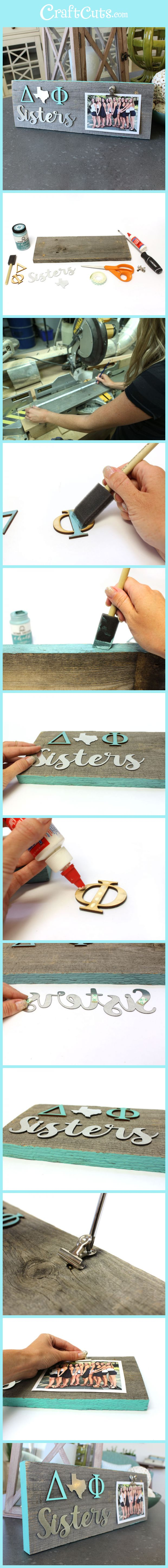 Greek Reclaimed Wood Frame | Sorority Sister Fame | Easy Reclaimed Wood Frame DIY | CraftCuts.com