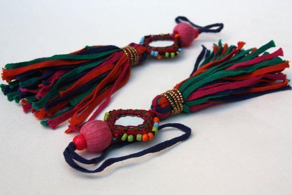 Banjara Tassels Kutch KutchiIndian Mirror Tassel Gypsy by catfluff