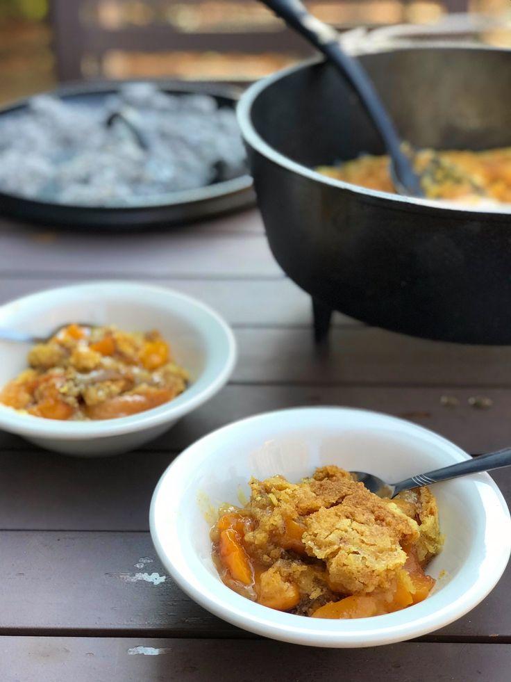 Boy Scouts Dutch Oven Peach Cobbler Recipe