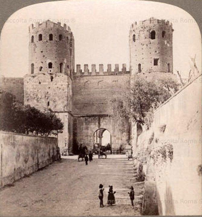 Porta San Sebastiano e Appia Antica 1880