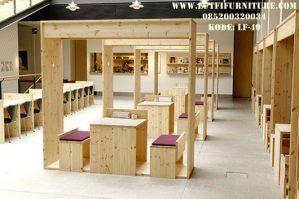 Set Kursi Cafe Variasi Atap Kotak
