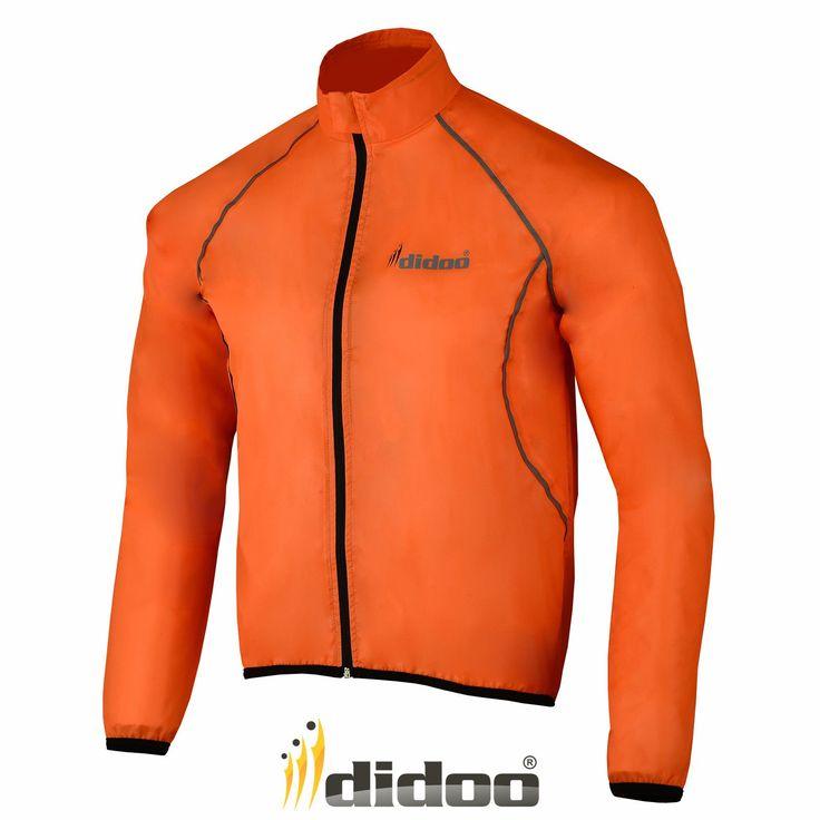 Chubasquero Impermeable Chaqueta Ciclismo Hombre Alta Visibilidad Lluvia - Poliester, XXL, Naranja