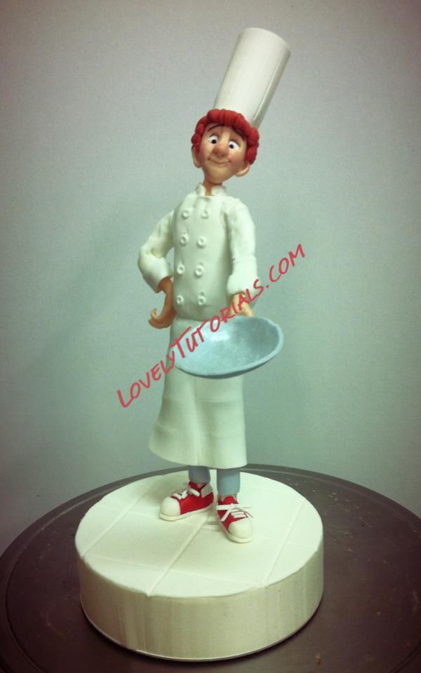 Gumpaste fondant polymer clay chef figure making