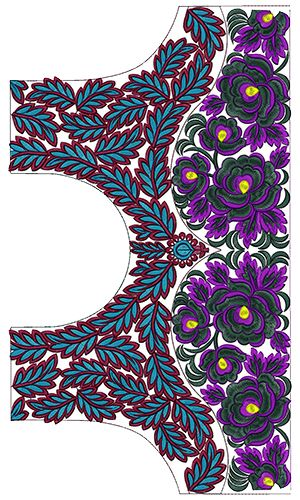 9757 Blouse Embroidery Design