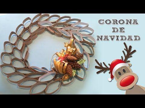Corona de navidad de cart n i manualidades de reciclaje for Ideas para hacer cosas de navidad