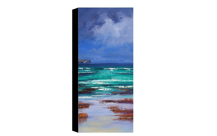Balmoral Beach Oil Painting Original Seascape Impressionist Ocean Wall Art by…