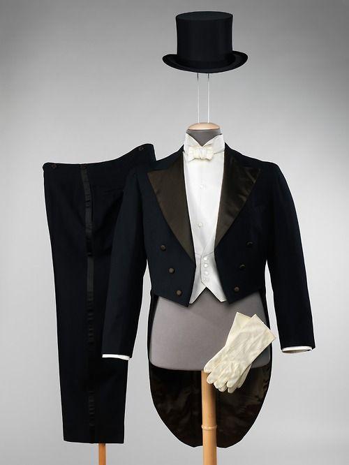 Complete white tie attire
