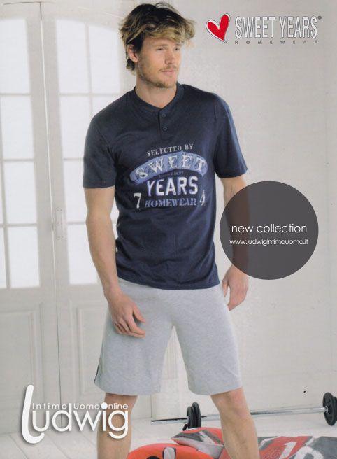 #pigiami #pigiami_uomo Sweet Years homewear. La nuova collezione pigiameria  maschile primavera estate 2014