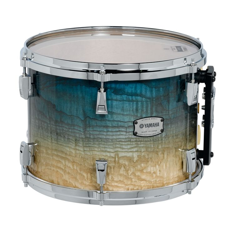 "Image of Yamaha PHX Phoenix Series Ash 24""x18"" Turquoise Fade Bass Drum w/ Tom Mount & Chrome Hardware"