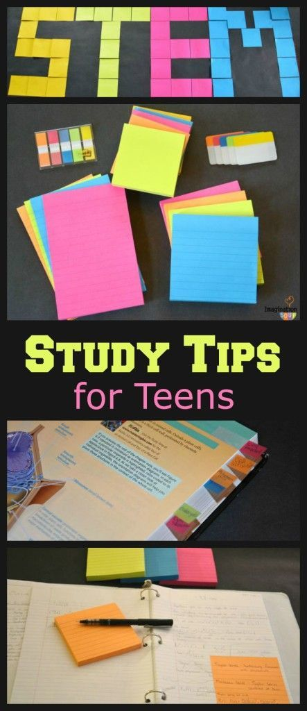 6 STEM Study Tips for Teens -- this is so helpful!! #ad @postitproducts