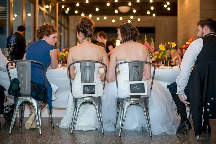 Chair decorations for the wedding couple. Image by @richbayleyphoto