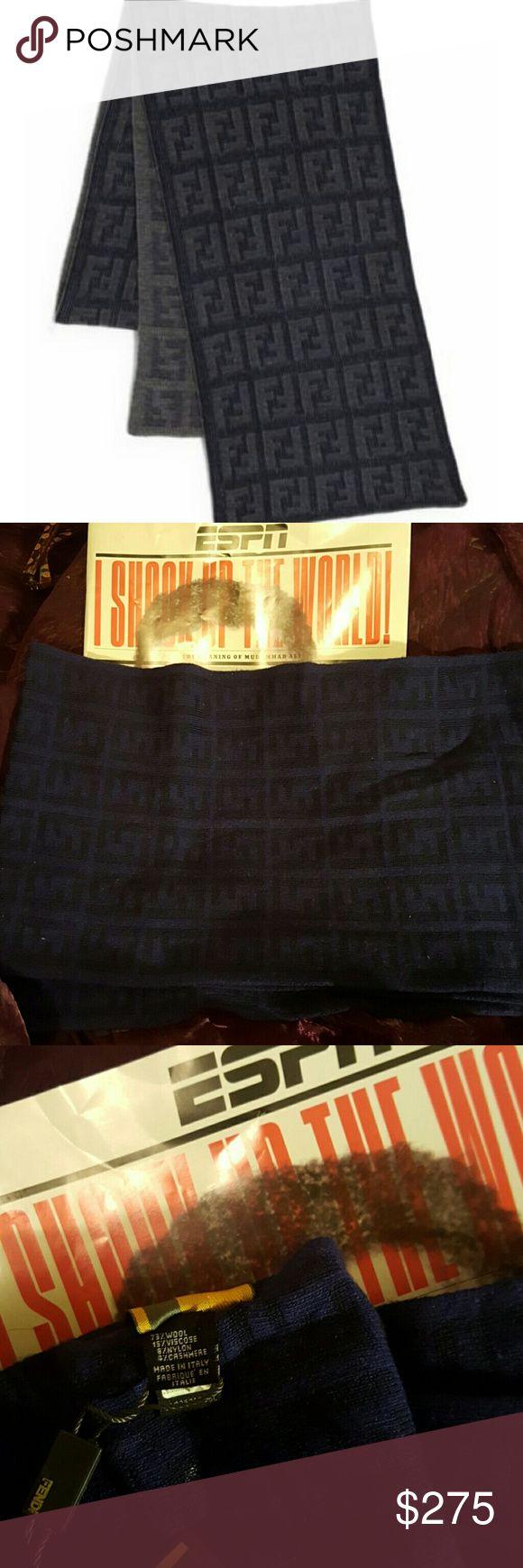 Fendi authentic scarf in purple & black.All Royal Fendi scarf is 73% wool, 15% viscose, 8% nylon. 4% cashmere. Sciarpa, Maglia. Zucca, All Royal. NWT. FENDI Accessories Scarves & Wraps