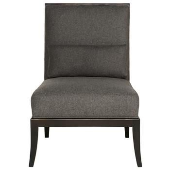 Best Adley Modern Classic Mocha Wood Grey Armless Living Room 400 x 300