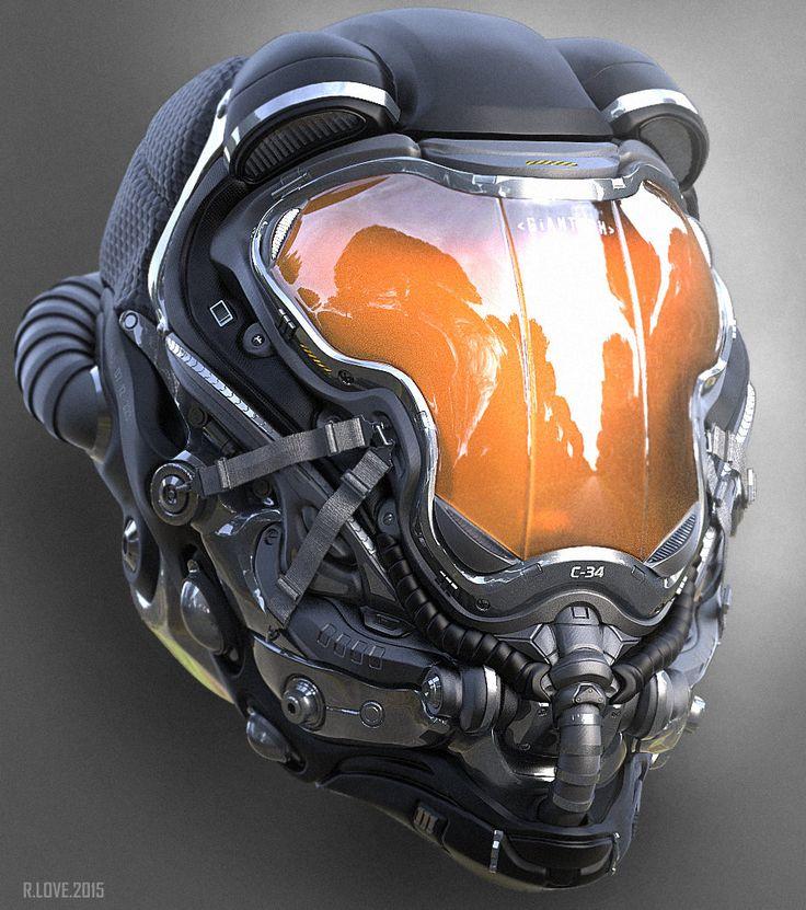 Ryan Love shared 3 3D Helmet Concepts done in Zbrush | CGVILLA