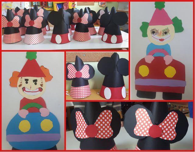 ...Το Νηπιαγωγείο μ' αρέσει πιο πολύ.: Φτιάχνουμε καπέλα Μίκυ και Μίνυ