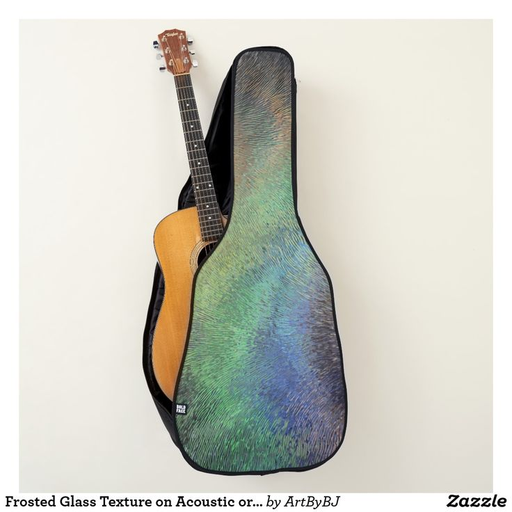 Frosted Glass Texture on Acoustic or Electric Guitar Case  - A Wonderful Christmas Present or Birthday Gift for ANY Guitar Player - order it as an Electric Guitar Case or an Acoustic Guitar Case. . . .   2 pockets, Handle and Back-Pack Style Straps as well, . . .   AND SWAP-ABLE  Front Designs. -  Visit to see all the details and LOTS MORE!