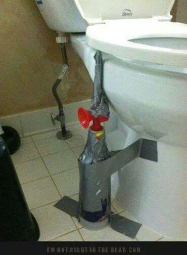 great practical joke.