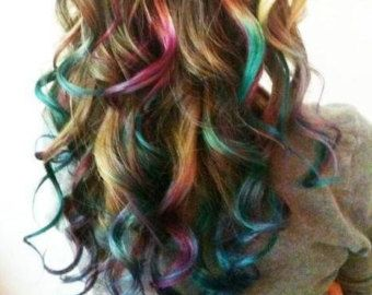 12 Colors Non-toxic Temporary Hair Color by BowensNeedfulThings
