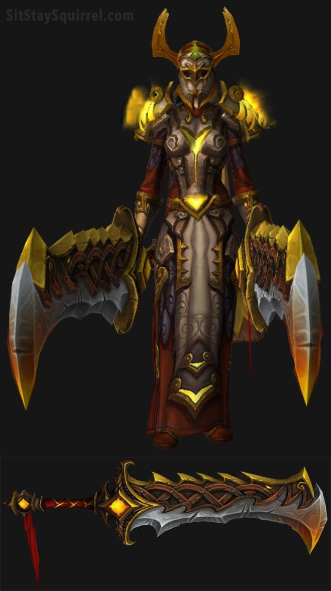 Human Female Fury Warrior Set WoW