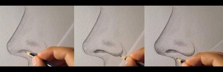 paso 3 para aprender a dibujar una nariz de perfil