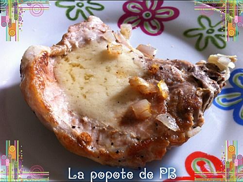 Côte de porc parmesane