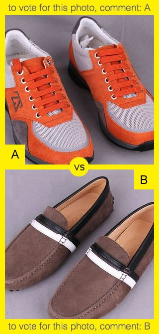 To vote for top photo comment A, to vote for bottom photo comment B. See results at http://swingvoteapp.com/#!polls/820. Click here http://swingvoteapp.mobi/ to install Swingvote mobile app and create your own polls.