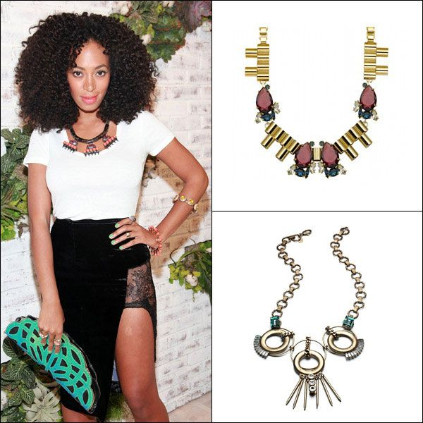 Solange Knowles's Deco Baubles #fashion #harpersbazaar #solangeknowles #necklace #style