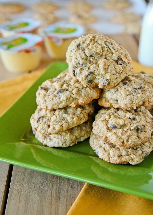 Delicious, chewy oatmeal cookies lightened up thanks to Mott's Applesauce.