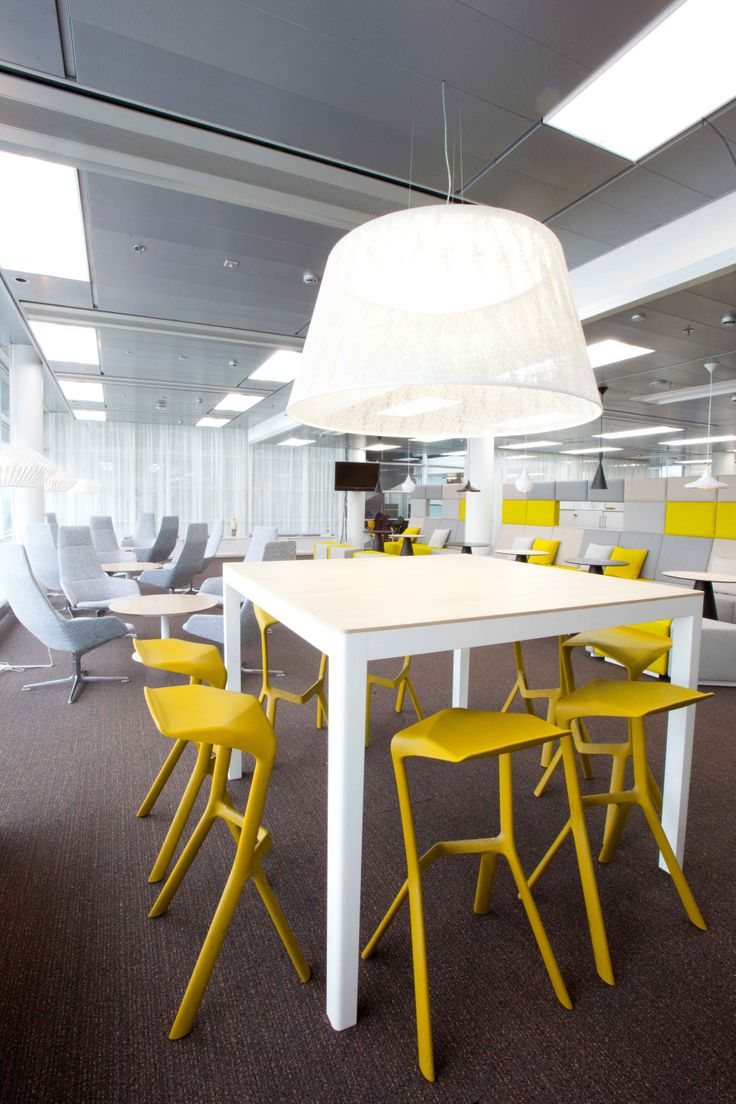 MIURA stools, design Konstantin Grcic, at SAP Finland Oy in Espoo Architect: Sisustusarkkitehtitoimisto Monni & Koskivaara Photography: Sininen Kuva