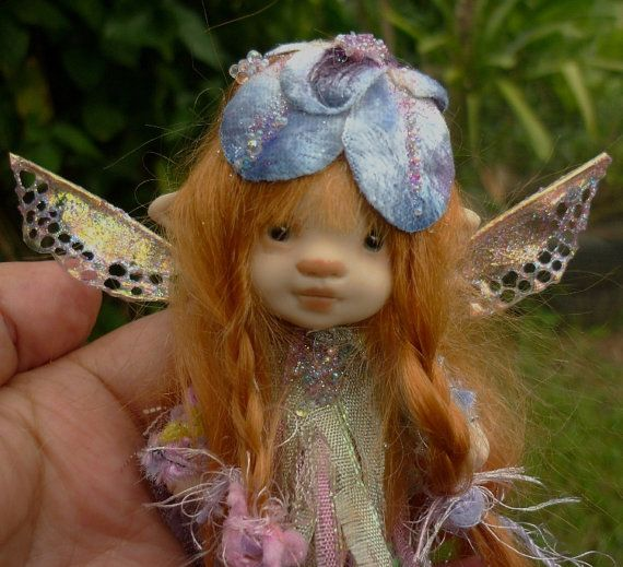 sweet  4  inches  tiny fairy fairie  by throughthemagicdoor
