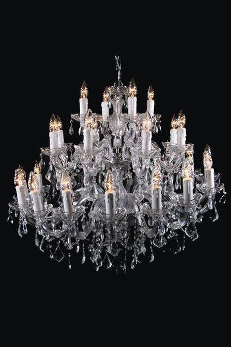 Kristallen kroonluchter - 28 lampen