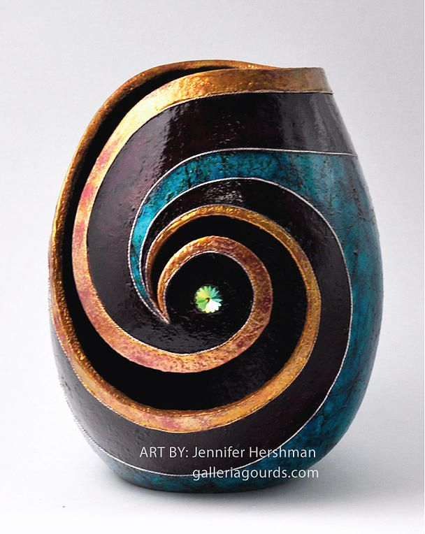 galleria gourds jennifer hershman gourd art | MORE GOURDS