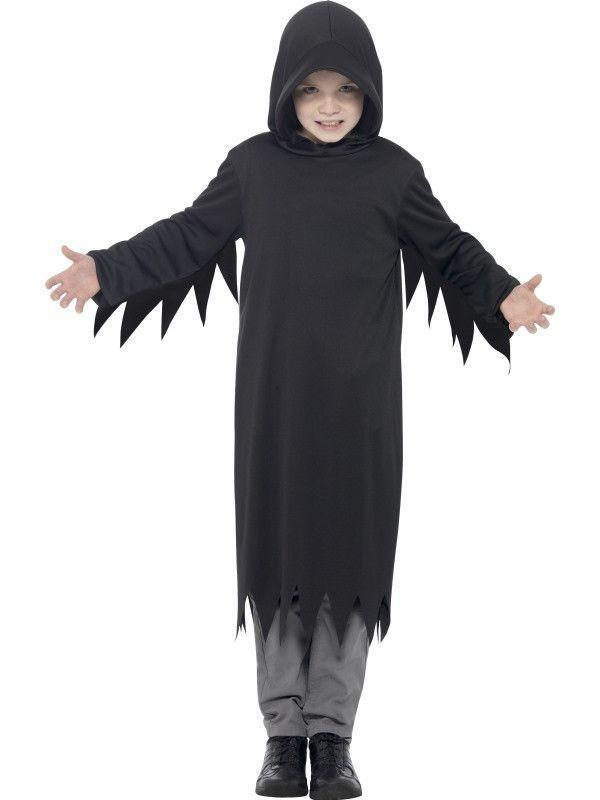 New Kids Childrens Bo... http://www.cosmetics4uonline.co.uk/products/kids-childrens-boys-girls-dark-grim-reaper-costume-black-sizes-small-medium-or-large-by-smiffys-fancy-dress-45482 #make up
