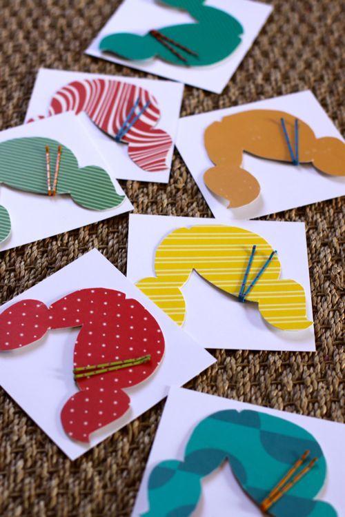 Forme de cheveux pour des cartes d'invitations - tutoriel et gabarit