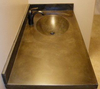 Cardiff Countertops acid wash brown - Traditional - Bathroom Countertops - edmonton - by Concrete Ideas