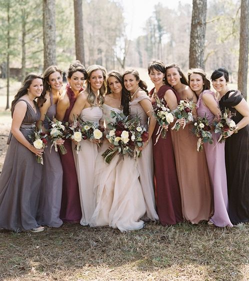 17 Best Images About Bridesmaid Color Ideas For A Fall