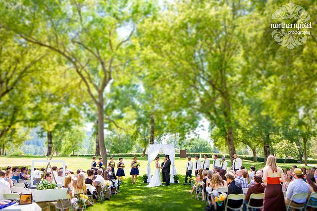 Wedding Ceremony at Fort George Park - in Prince George BC, by Northern Pixel Photography