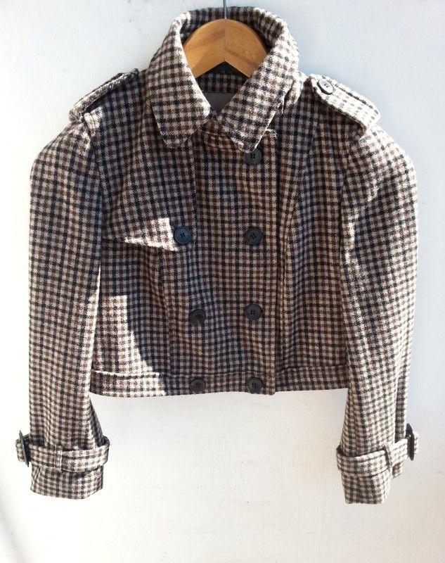 1ab18926 Dwurzędowa kurtka Zara deseń w drobną kratę 51% wełny r. M (retro, vintage)  | KUP NA VINTED.PL | Zara, Odzież, Retro vintage