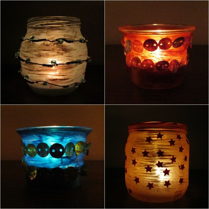 Skleničkové svícny | Moje mozkovna