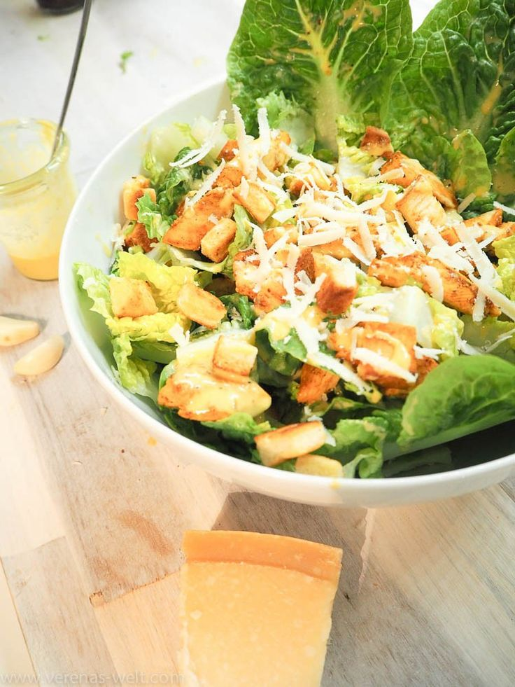 die besten 25 caesar salat rezept ideen auf pinterest caesar salat mit huhn salat mit. Black Bedroom Furniture Sets. Home Design Ideas