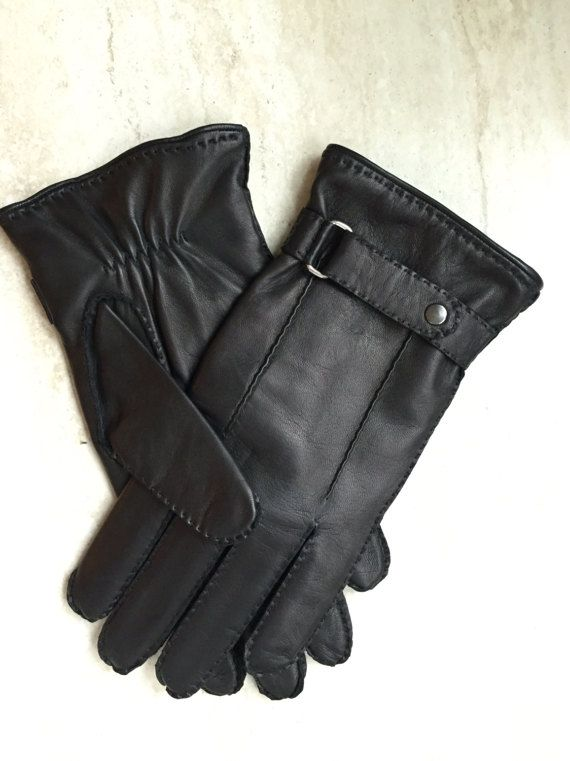 Men's winter gloves/chasmere lining/elegant style/warm gloves/italian nappa leather/gift for him/driving gloves/gift/leather gloves/gloves