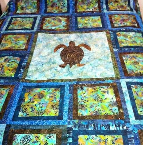 Quilt Patterns With Turtles : 17 Best images about Turtle quilts on Pinterest Starfish, Quilt and Handmade table