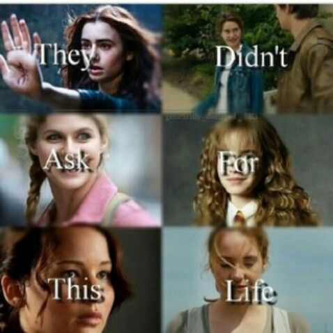 I don't recognize the first-The Fault in Our Stars- Percy Jackson- Harry Potter- The Hunger Games- Divergent