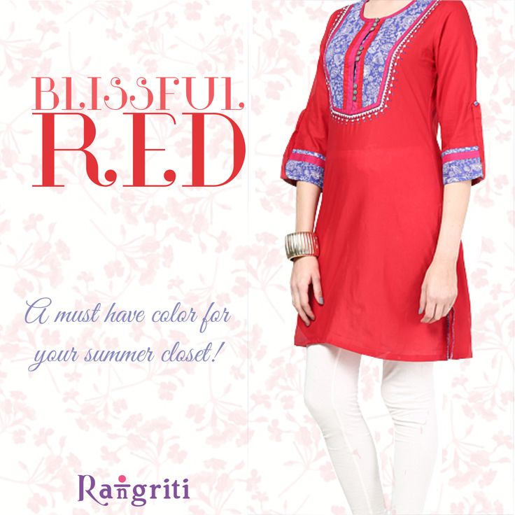 When in doubt, wear red, it never goes wrong! Get this lovely red kurta here: bit.ly/1GYzywW