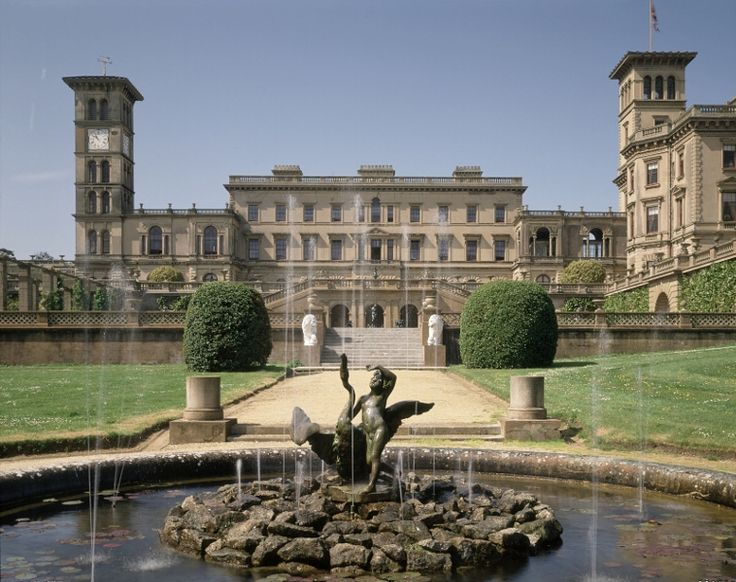 Osborne House, Queen Victoria's holiday home on the Isle of Wight.     Spookily, you can even see the bed that she died in.